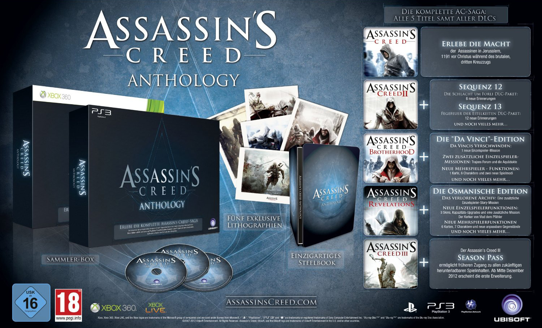 Assassin`s Creed Anthologie für nur 71 EUR im Angebot