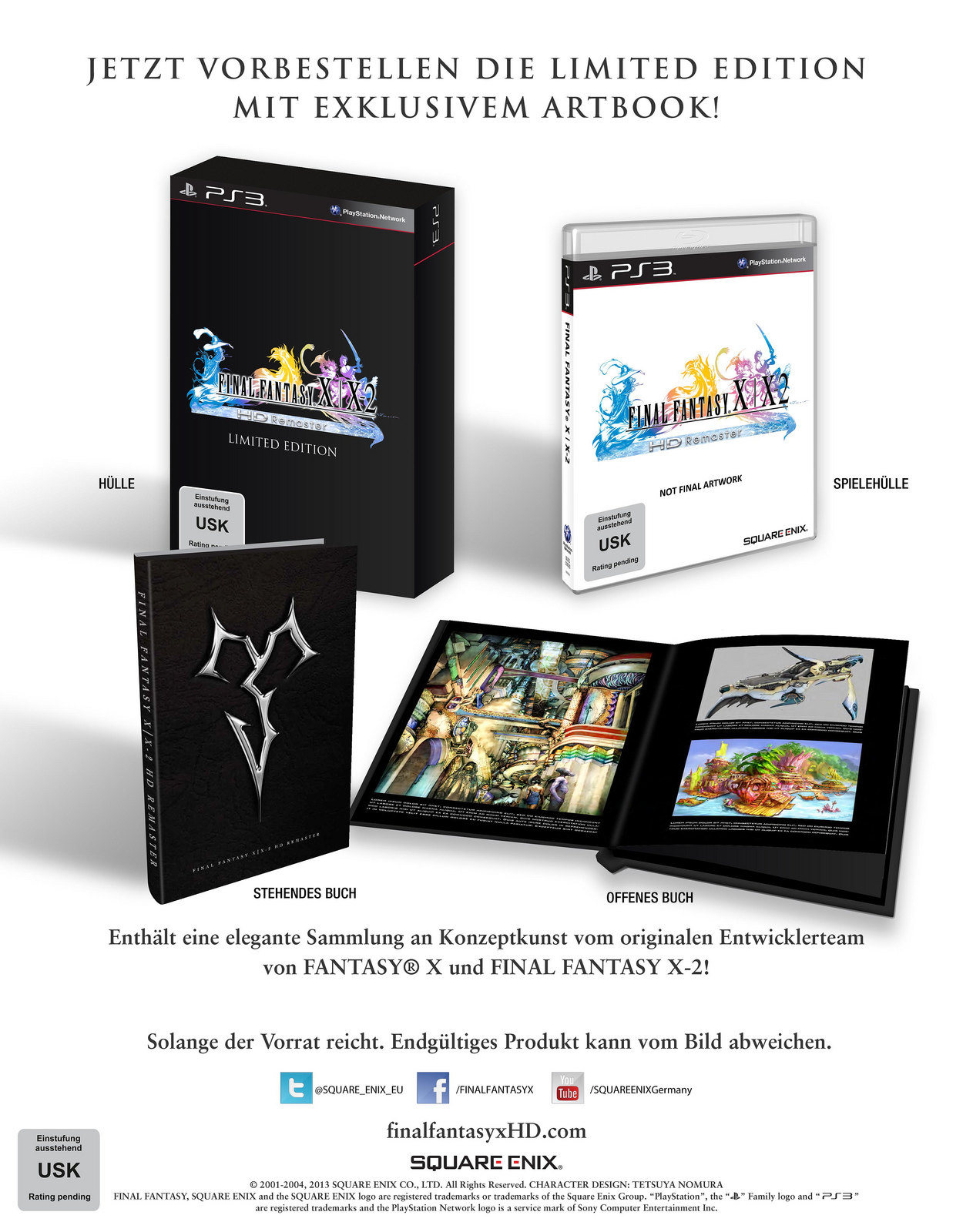Final Fantasy X/X-2 HD – Limited Edition offiziell angekündigt