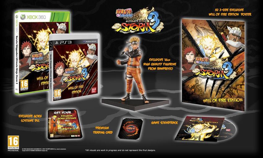 Naruto Shippuden Ultimate Ninja Storm 3 – Namco Bandai stellt Collectors Edition vor