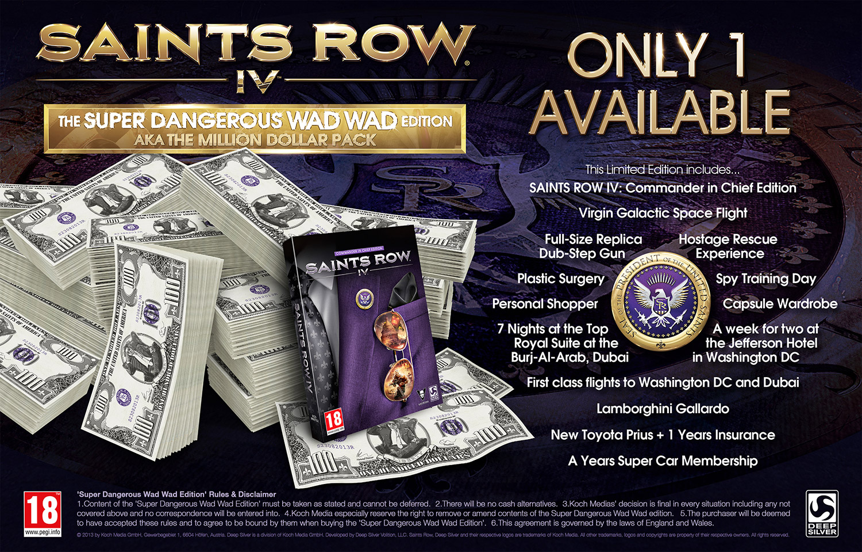 Saints Row IV – Super Dangerous Wad Wad Edition angekündigt, limitiert auf 1 Stück