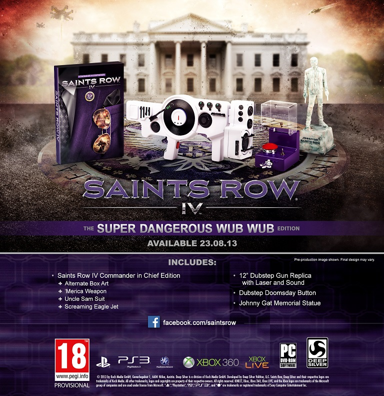 Saints Row IV: The Super Dangerous Wub Wub Edition angekündigt