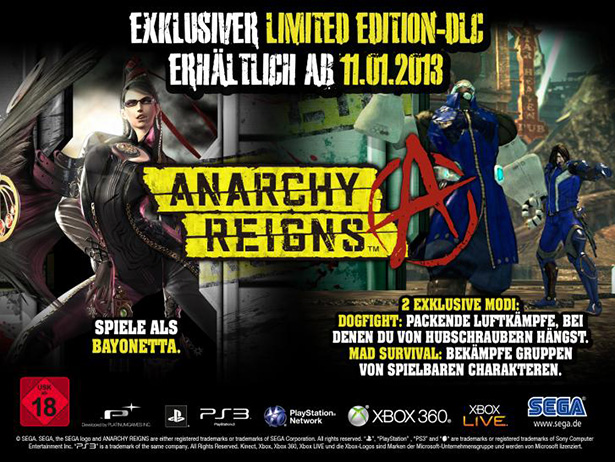 Anarchy Reigns – In Europa auch als Limited Edition