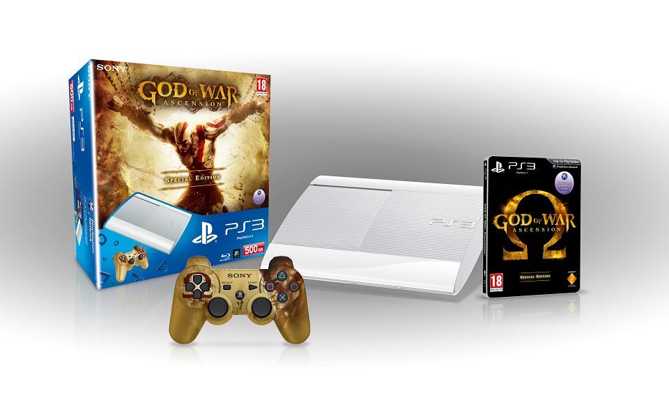 God of War: Ascension – Offizielles PS3 Bundle mit weißer PS3 Super Slim kommt nach Europa