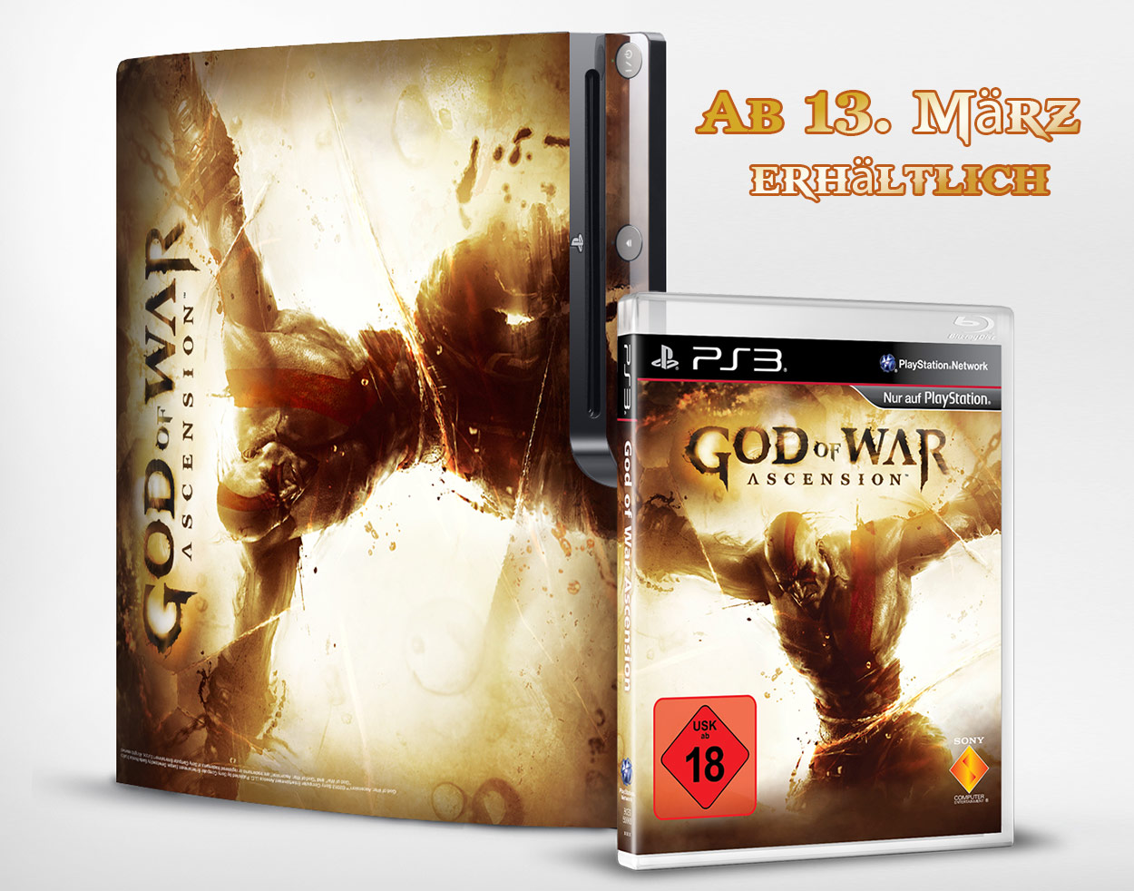 Gewinnspiel – 3 x God of War: Ascension plus PS3 Skins zu verlosen