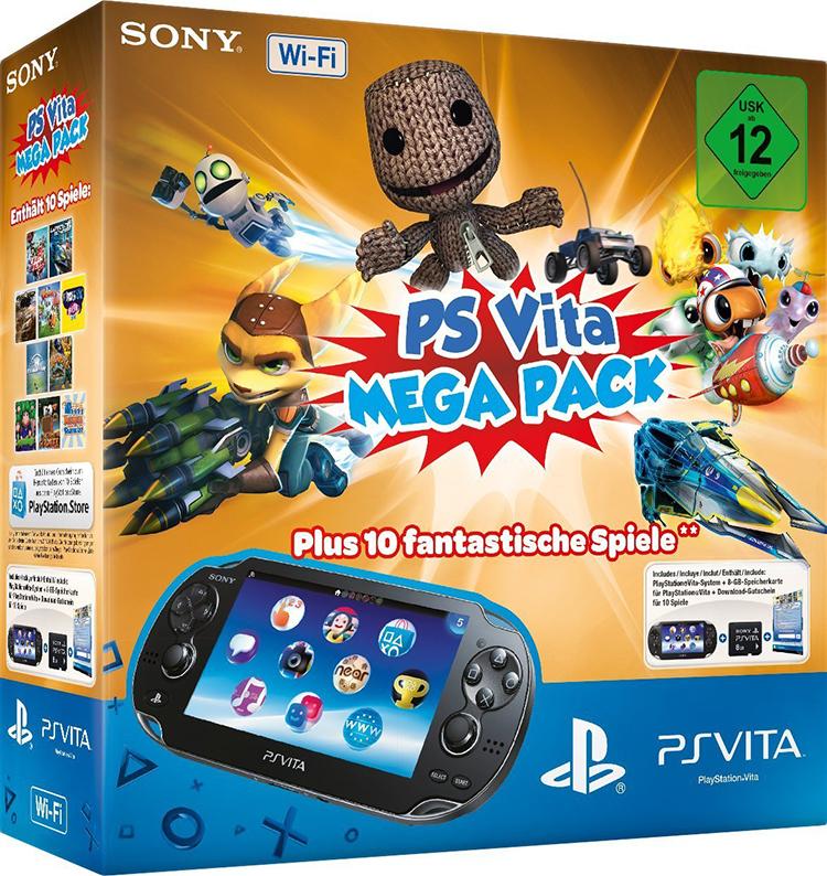 Schnäppchen: PS Vita Mega Pack für 199 EUR, inkl. 10 Spielen & Speicherkarte
