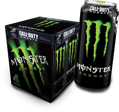 Limitierte MONSTER Energy Dosen in Call of Duty: Ghosts-Optik bringen Action-Fans exklusive Prämien