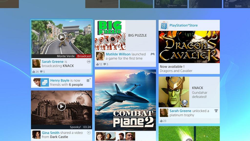 Das PS4 Interface im Video vorgestellt