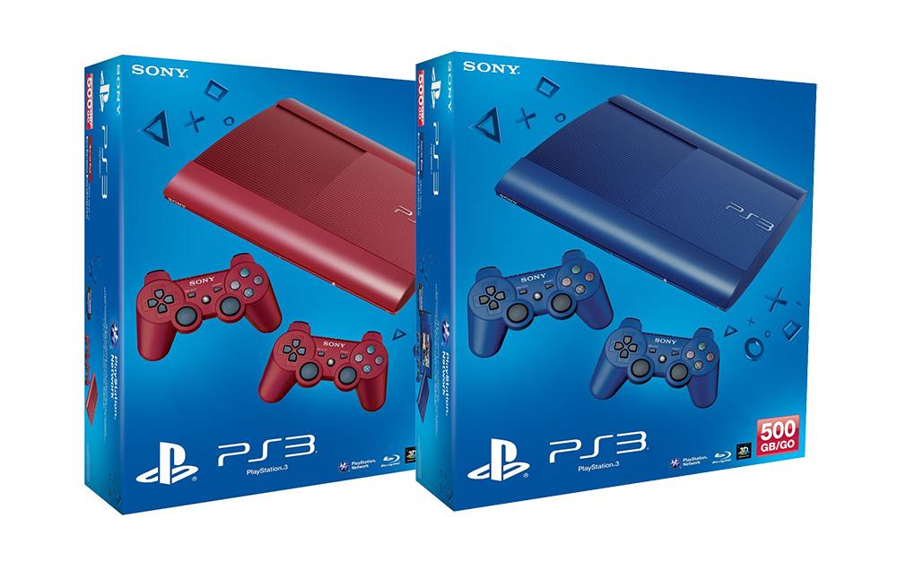 Sony kündigt PS3 Super Slim in rot und blau für Europa an